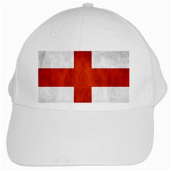 England Flag White Cap by Valentinaart