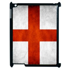 England Flag Apple Ipad 2 Case (black) by Valentinaart