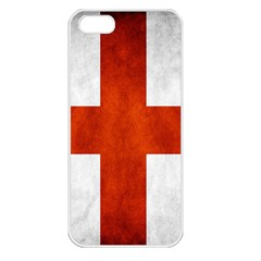 England Flag Apple Iphone 5 Seamless Case (white) by Valentinaart