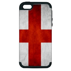 England Flag Apple Iphone 5 Hardshell Case (pc+silicone) by Valentinaart
