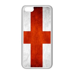 England Flag Apple Iphone 5c Seamless Case (white) by Valentinaart
