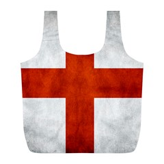 England Flag Full Print Recycle Bags (l)  by Valentinaart