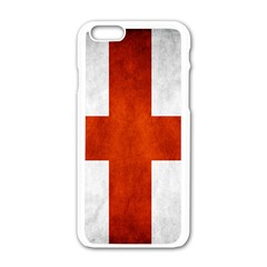 England Flag Apple Iphone 6/6s White Enamel Case by Valentinaart