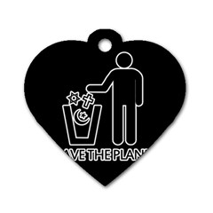 Save The Planet   Religions  Dog Tag Heart (two Sides) by Valentinaart