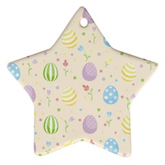 Easter Pattern Ornament (star) by Valentinaart
