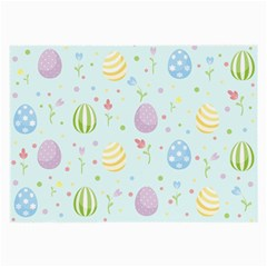 Easter Pattern Large Glasses Cloth (2 Side) by Valentinaart