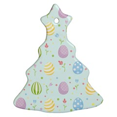 Easter Pattern Christmas Tree Ornament (two Sides) by Valentinaart
