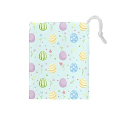Easter Pattern Drawstring Pouches (medium)  by Valentinaart