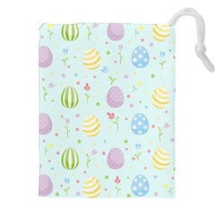 Easter Pattern Drawstring Pouches (xxl) by Valentinaart