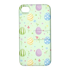 Easter Pattern Apple Iphone 4/4s Hardshell Case With Stand by Valentinaart