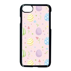 Easter Pattern Apple Iphone 7 Seamless Case (black) by Valentinaart