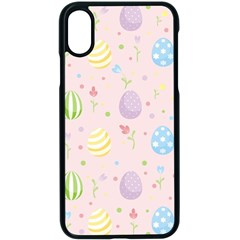 Easter Pattern Apple Iphone X Seamless Case (black) by Valentinaart