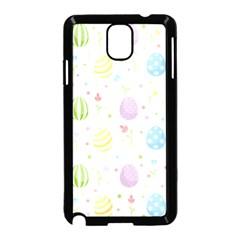 Easter Pattern Samsung Galaxy Note 3 Neo Hardshell Case (black) by Valentinaart