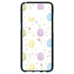Easter Pattern Samsung Galaxy S8 Black Seamless Case by Valentinaart
