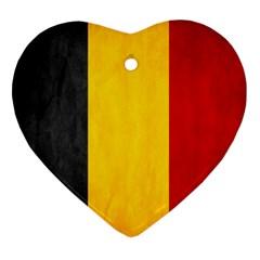 Belgium Flag Ornament (heart) by Valentinaart