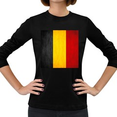 Belgium Flag Women s Long Sleeve Dark T Shirts by Valentinaart
