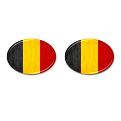 Belgium Flag Cufflinks (oval) by Valentinaart