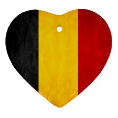 Belgium Flag Heart Ornament (two Sides) by Valentinaart