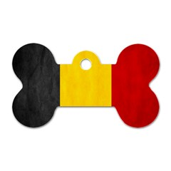 Belgium Flag Dog Tag Bone (one Side) by Valentinaart