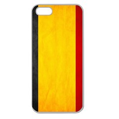 Belgium Flag Apple Seamless Iphone 5 Case (clear) by Valentinaart