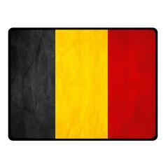 Belgium Flag Double Sided Fleece Blanket (small)  by Valentinaart