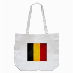 Belgium Flag Tote Bag (white) by Valentinaart