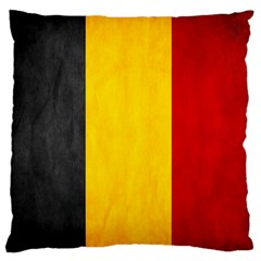 Belgium Flag Large Flano Cushion Case (two Sides) by Valentinaart