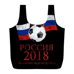Russia Football World Cup Full Print Recycle Bags (l)  by Valentinaart