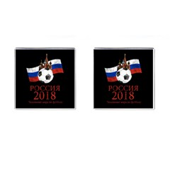 Russia Football World Cup Cufflinks (square) by Valentinaart