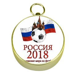 Russia Football World Cup Gold Compasses by Valentinaart