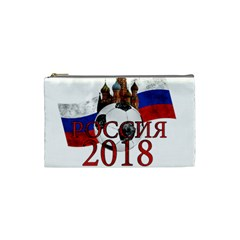 Russia Football World Cup Cosmetic Bag (small)  by Valentinaart