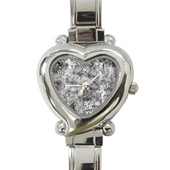 Grunge Pattern Heart Italian Charm Watch by Valentinaart