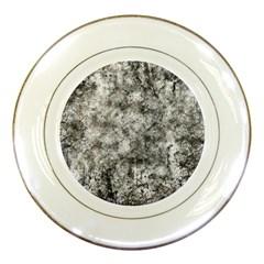 Grunge Pattern Porcelain Plates by Valentinaart