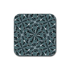 Modern Oriental Ornate Pattern Rubber Square Coaster (4 Pack)  by dflcprints