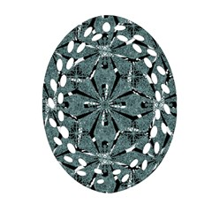 Modern Oriental Ornate Pattern Oval Filigree Ornament (two Sides) by dflcprints