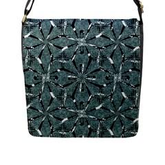 Modern Oriental Ornate Pattern Flap Messenger Bag (l)  by dflcprints