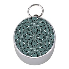 Modern Oriental Ornate Pattern Mini Silver Compasses by dflcprints