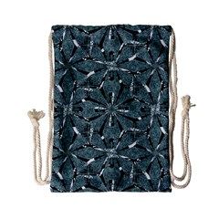Modern Oriental Ornate Pattern Drawstring Bag (small) by dflcprints
