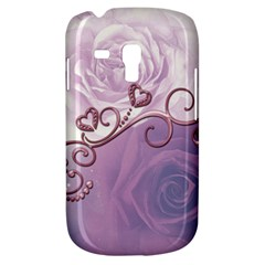 Wonderful Soft Violet Roses With Hearts Galaxy S3 Mini by FantasyWorld7