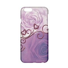 Wonderful Soft Violet Roses With Hearts Apple Iphone 6/6s Hardshell Case by FantasyWorld7