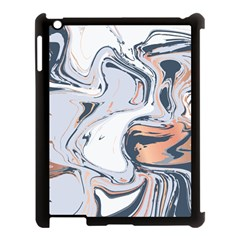 Liquid Gold And Navy Marble Apple Ipad 3/4 Case (black) by goljakoff
