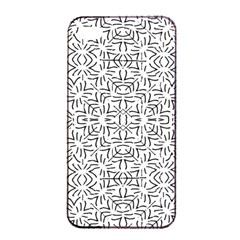 Black And White Ethnic Geometric Pattern Apple Iphone 4/4s Seamless Case (black) by dflcprints