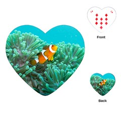 Clownfish 3 Playing Cards (heart)  by trendistuff