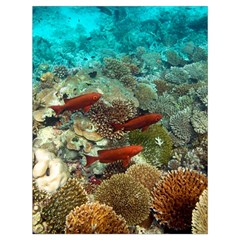 Coral Garden 1 Drawstring Bag (large) by trendistuff