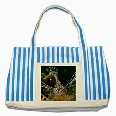 Lionfish 4 Striped Blue Tote Bag by trendistuff