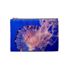 Purple Jellyfish Cosmetic Bag (medium)  by trendistuff