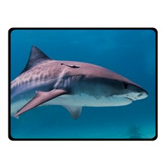 Tiger Shark 1 Double Sided Fleece Blanket (small)