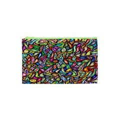 Artwork By Patrick Colorful 6 Cosmetic Bag (xs)