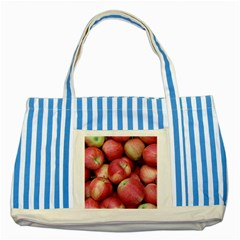 Apples 5 Striped Blue Tote Bag by trendistuff