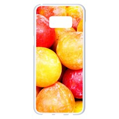 Apricots 1 Samsung Galaxy S8 Plus White Seamless Case by trendistuff